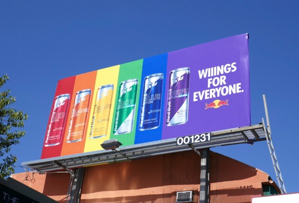 Red Bull Wings for everyone Pride billboard