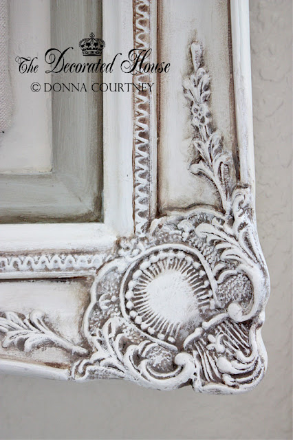 The Decorated House Antiqued Old White Chalk Paint With