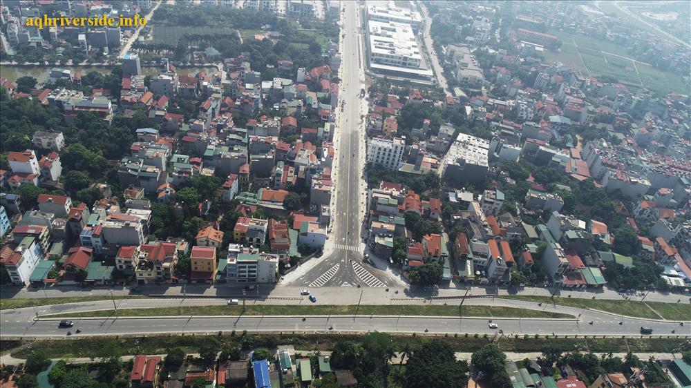 """Đường """"Trường Pháp"""" tại quận Long Biên."""
