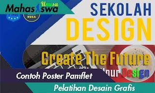 contoh poster dan pamflet pelatihan desain grafis 2019