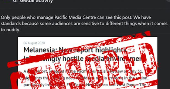 Facebook censorship on West Papua – then deafening silence