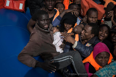 Photos: Over 500 African migrants including pregnant women and children rescued in the Mediterranean Sea
