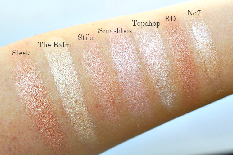 best-highlighters-drugstore-swatches
