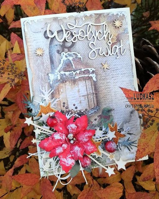 Pierwsza kartka świąteczna w tym roku ;) _ DT Craft Style