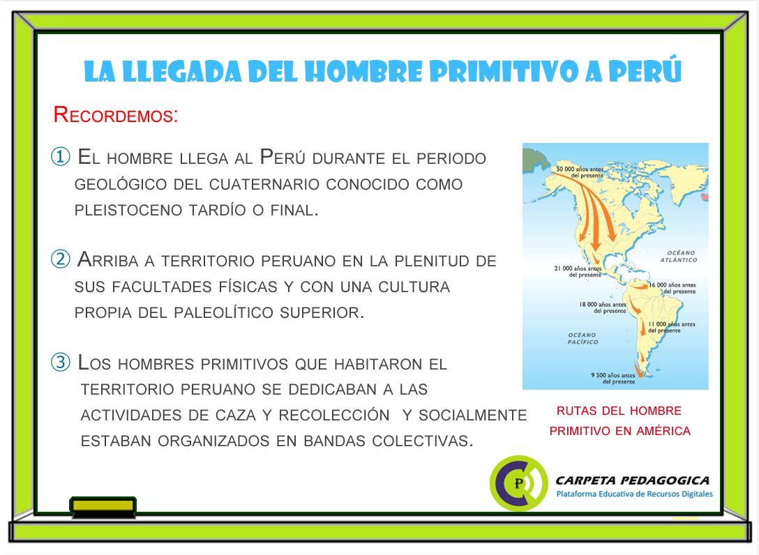 La llegada del hombre primitivo al Perú