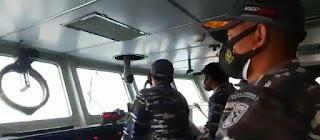 KRI HIU-364 Bersama Pesawat Tempur TNI AU Amankan Perbatasan RI-Malaysia