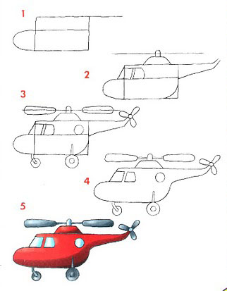 Cómo dibujar un helicóptero