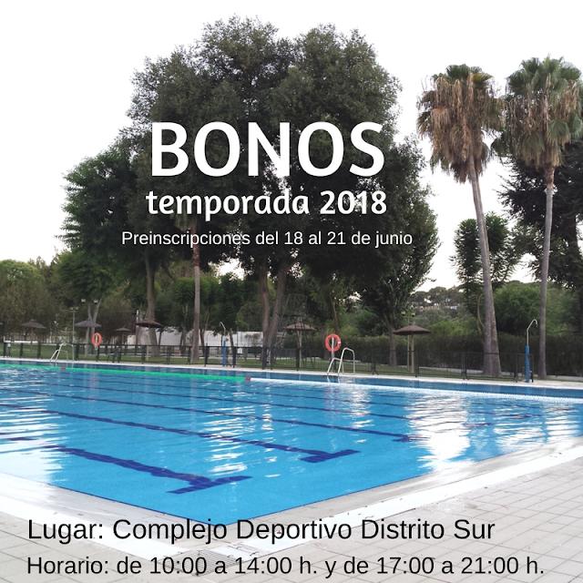 BONOS de temporada 2018 de la Piscina Municipal de San Juan