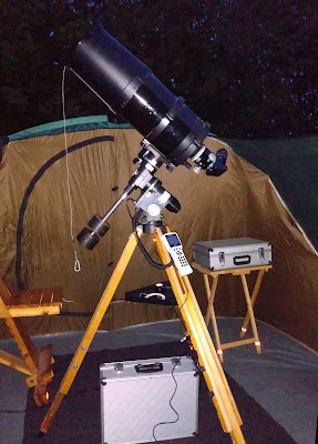 Celestron 9 on Super Polaris with GoToStar motors
