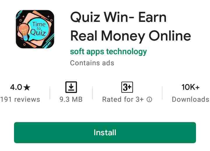Quiz Win Game