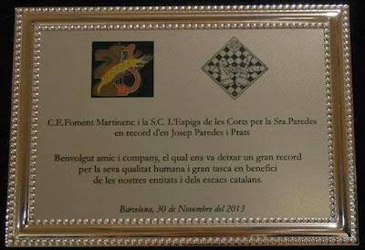 Placa del homenaje a Josep Paredes (1)