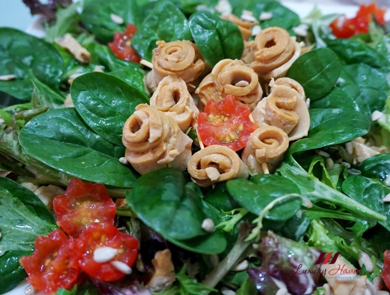 abalone salad baby spinach party recipe