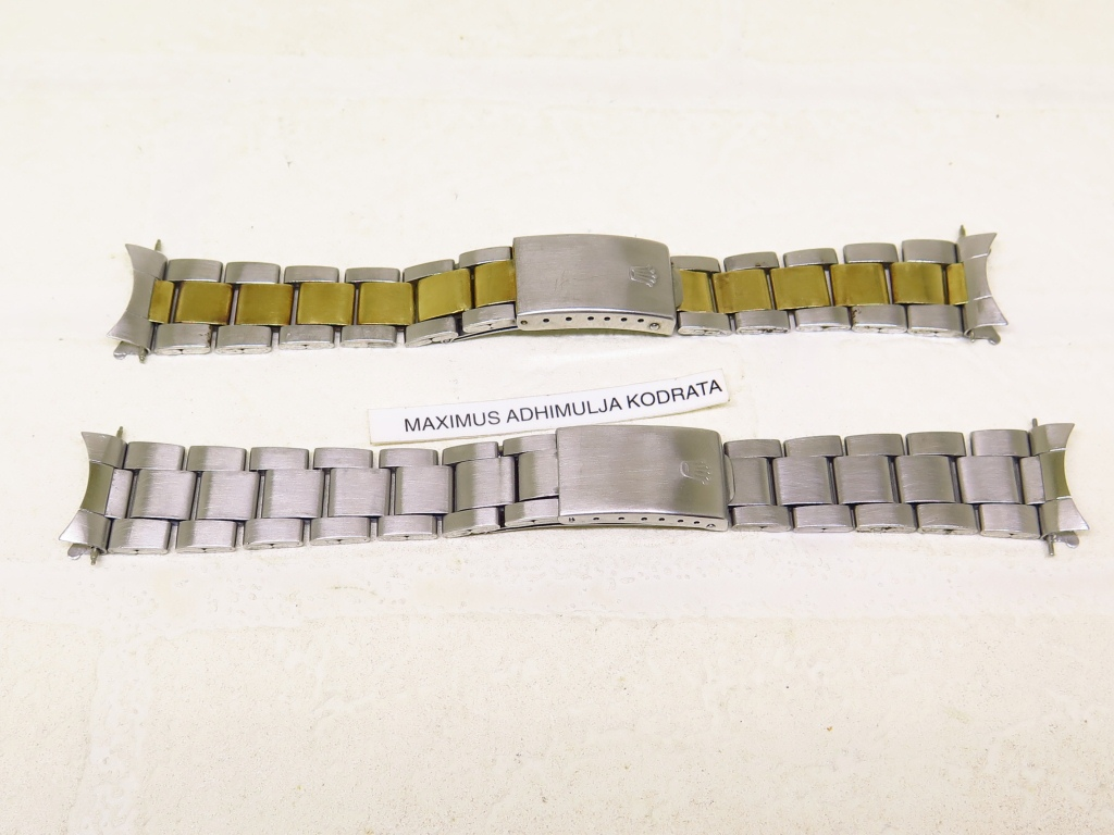 ROLEX OYSTER BRACELET 7836 - END LUG 258 SS AND TWO TONE