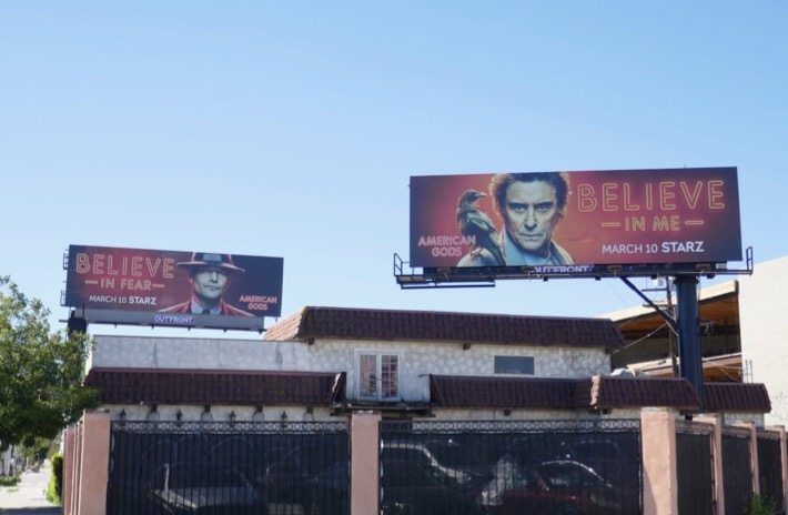 Believe American Gods season 2 billboards