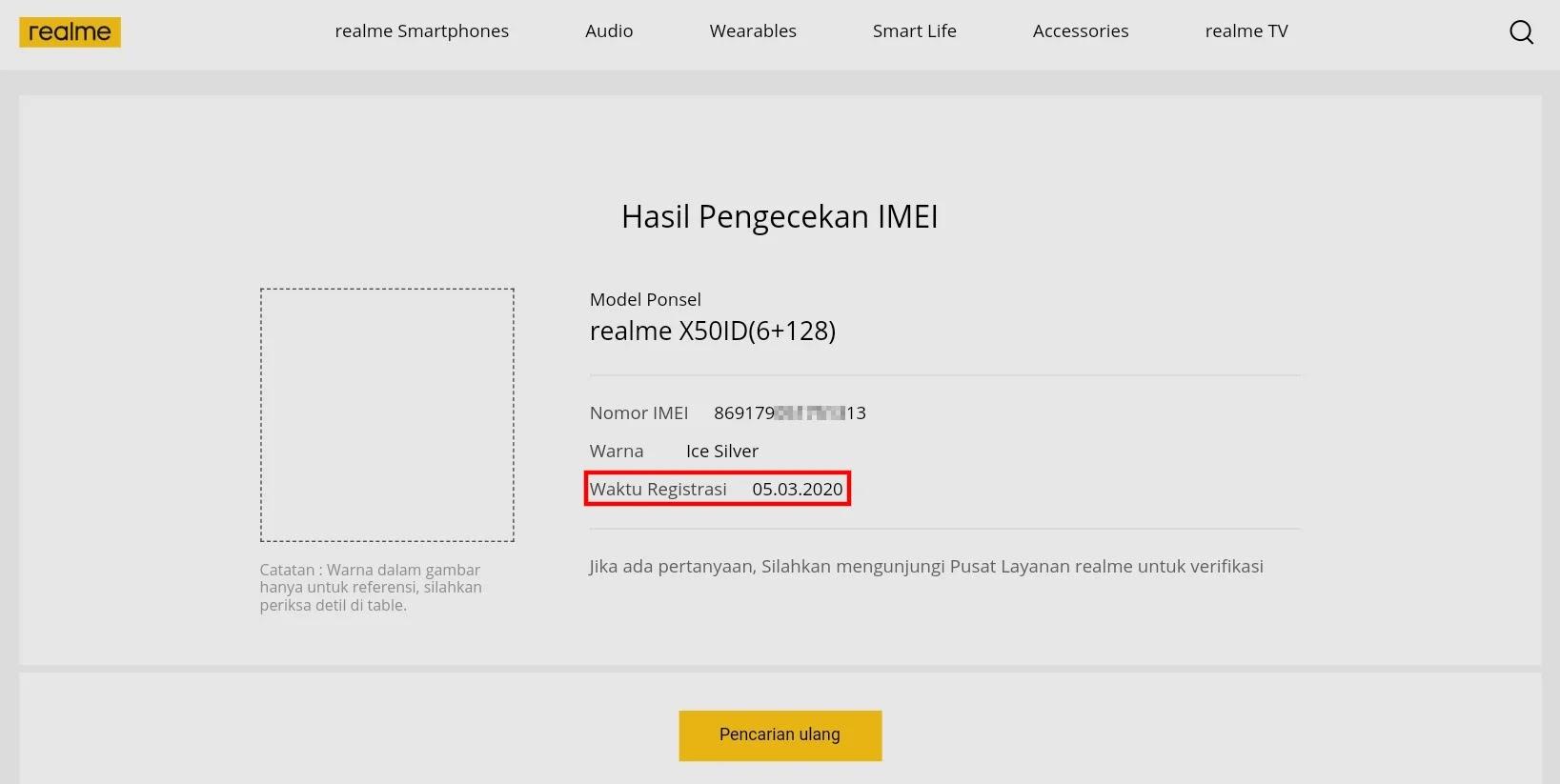 Cara Cek Garansi Realme Online Indonesia Hanya Dengan IMEI