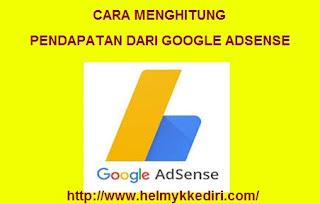 Cara menghitung pendapatan google adsense