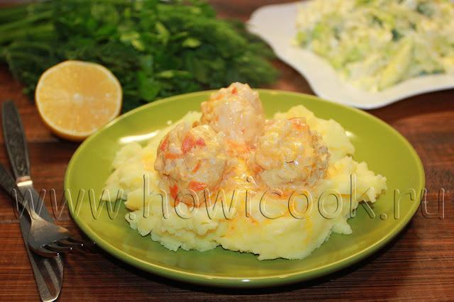 рецепт куриных тефтелей в томатно-сметанном соусе