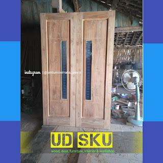Kusen pintu kuputarung minimalis jati surabaya