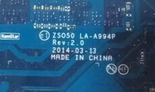 LA-A994P Rev-2.0 HP 15-r098sr Compal ZS050 Bios
