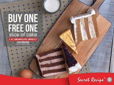 Secret Recipe Malaysia Buy 1 Free 1 Promo
