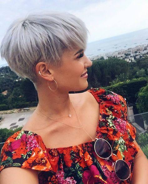 La Moda En Tu Cabello Peinados De Pelo Corto Femenino 2019