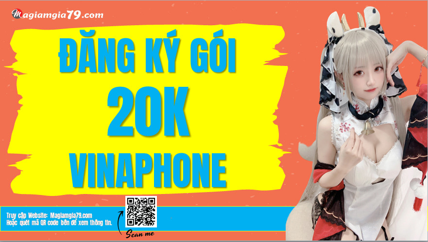 Đăng ký gói 20K Vinaphone,  Gói 20k 1 tháng Vinaphone