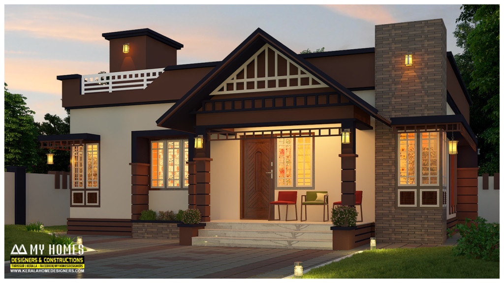 Low cost 850 square feet 2 bedroom home for 14 lakhs for Low cost per square foot house plans