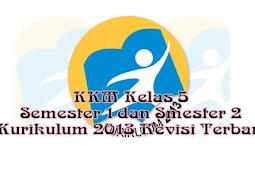 KKM Kelas 5 Semester 1 dan Smester 2  Kurikulum 2013 Revisi Terbaru