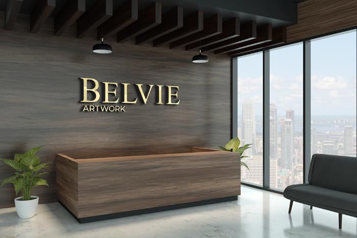 3D Logo Mockup Exotic Wooden Wall
