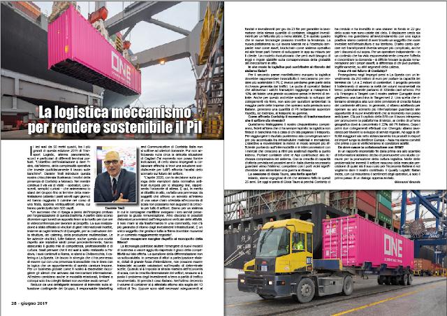 GIUGNO 2019 PAG. 28 - La logistica meccanismo per rendere sostenibile il Pil