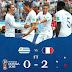 المنتخب الفرنسى يتغلب على نظيره الاوروجويانى بثنائية نظيفة ويتأهل للدور نصف النهائى