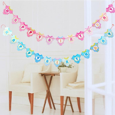Bunting Banner Happy Birthday Baby Clothes