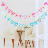 Bunting Banner HAPPY BIRTHDAY Motif Baby Clothes
