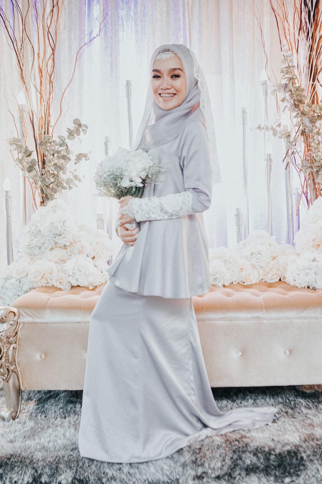 Baju Kahwin Grey