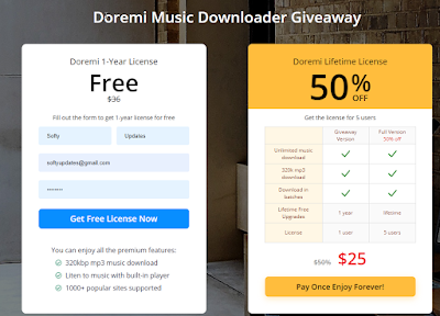 Doremi Music Downloader-1-Year License Giveaway