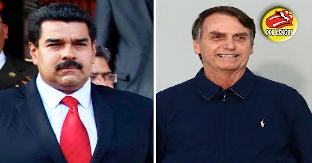 Maduro felicitó a Bolsonaro y le exigió que no se meta con Venezuela