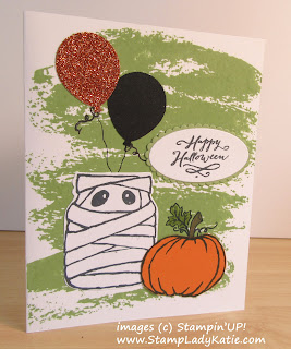 Halloween Card made with Stampin'UP!'s Jar of Haunts Stamp Set