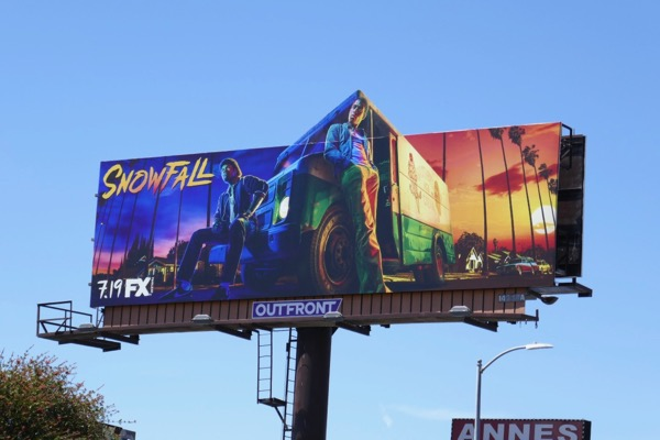 Snowfall season 2 cut-out billboard