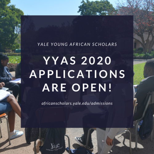 Yale University Young African Scholars (YYAS) 2020 Application Is Now Open