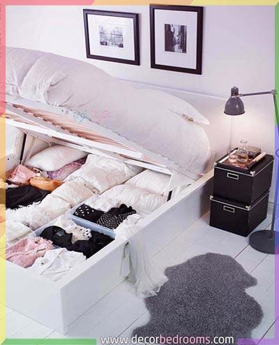 سرير مع مساحة تخزين سفلية