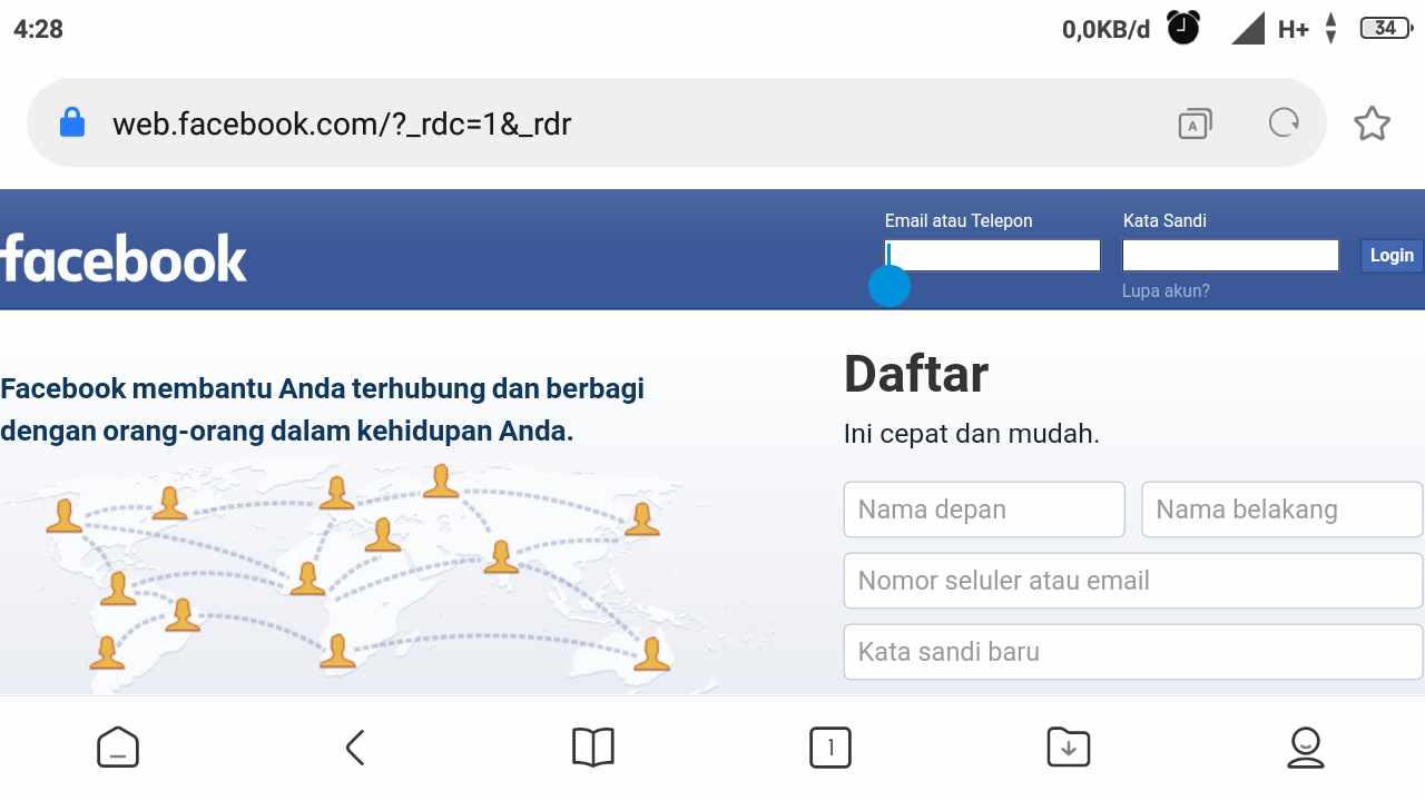 Cara deactive Facebook