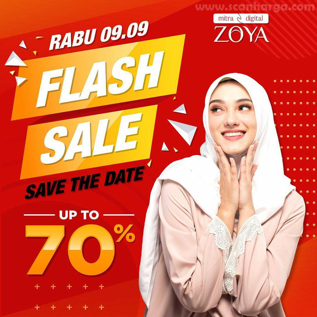 ZOYA Promo Flash Sale Save The Date Up To 70%