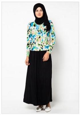 model busana batik kombinasi rok panjang