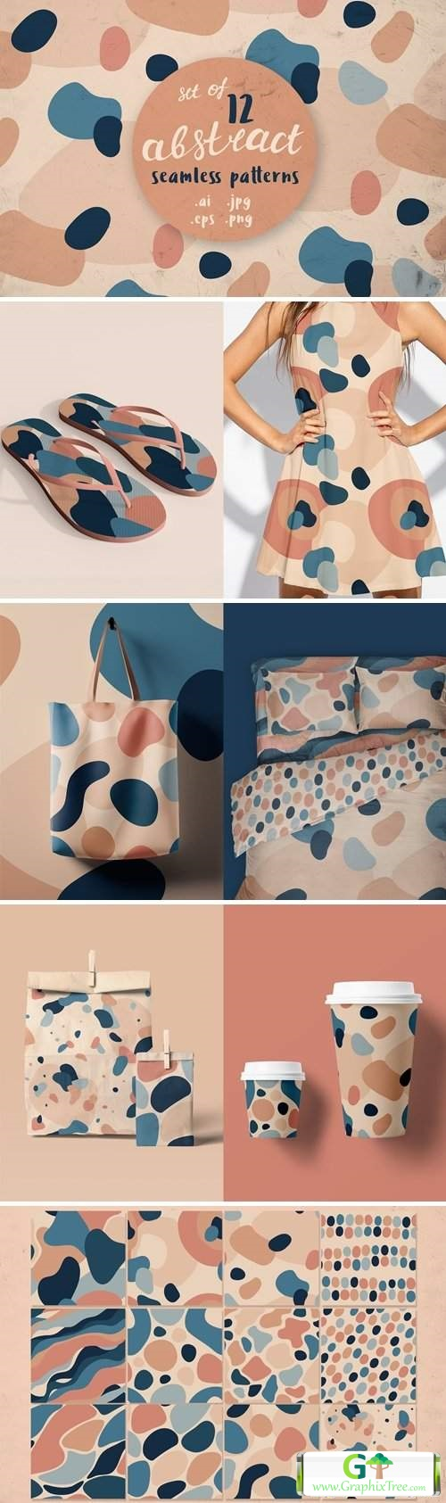 12 abstract seamless patterns [Vector] [Textures & Patterns]