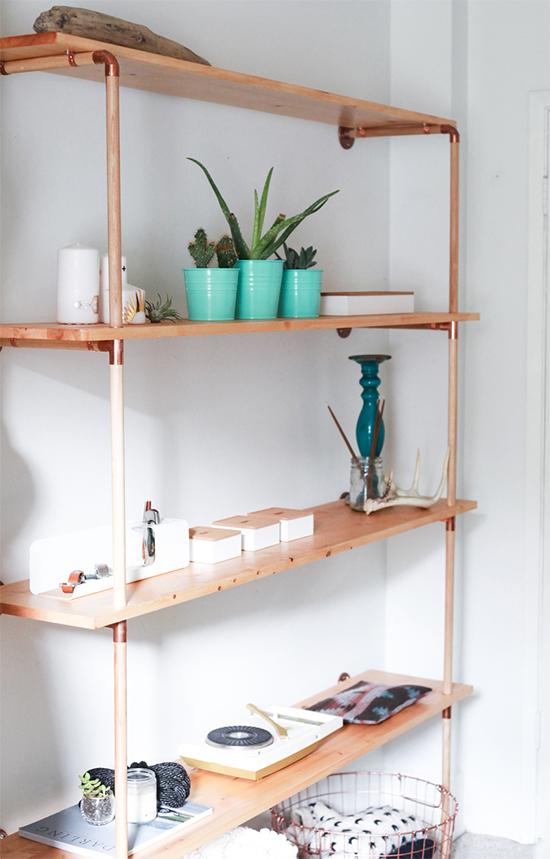 estante com cano, pipe shelves, estante, faça você mesmo, diy, a casa eh sua, acasaehsua, móvel, armário, estante com cano de cobre