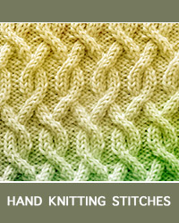Learn Serpentine Cable Pattern with our easy to follow instructions at HandKnittingStitches.com