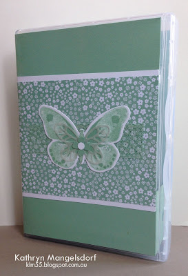 Stampin' Up! Watercolor Wings Gift Case by Kathryn Mangelsdorf