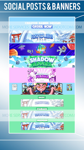 Design a cartoon youtube banner , twitter and twitch banner - Banner Art Design theme - Twitter Headers