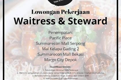 Info Lowongan Kerja Waitress & Steward Thai Street Food Jabodetabek