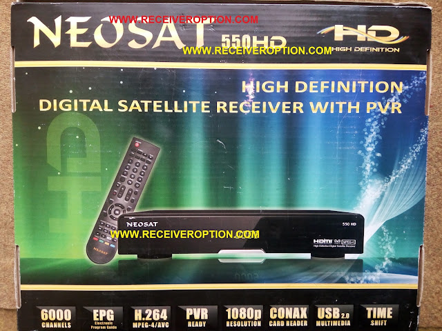 NEOSAT 550HD RECEIVER POWERVU KEY OPTION